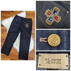 ST JOHN JEANS MARIE Classic Rise Straight NWT